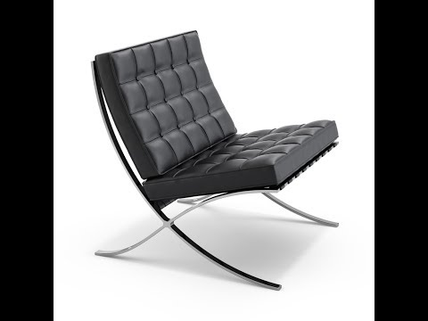 model Barcelona chair by sketch up