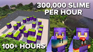 Spending a Week Making 24 Slime Farms in Minecraft
