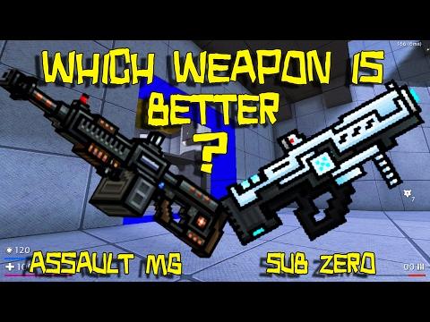 Pixel Gun 3D - Assault Machine Gun VS Sub Zero