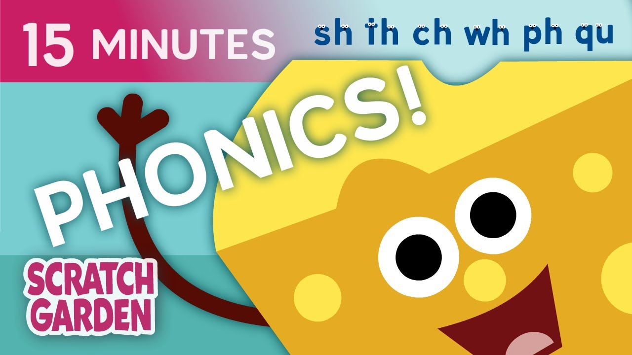 Phonics Compilation | Common Digraph Sounds Compilation | Scratch Garden