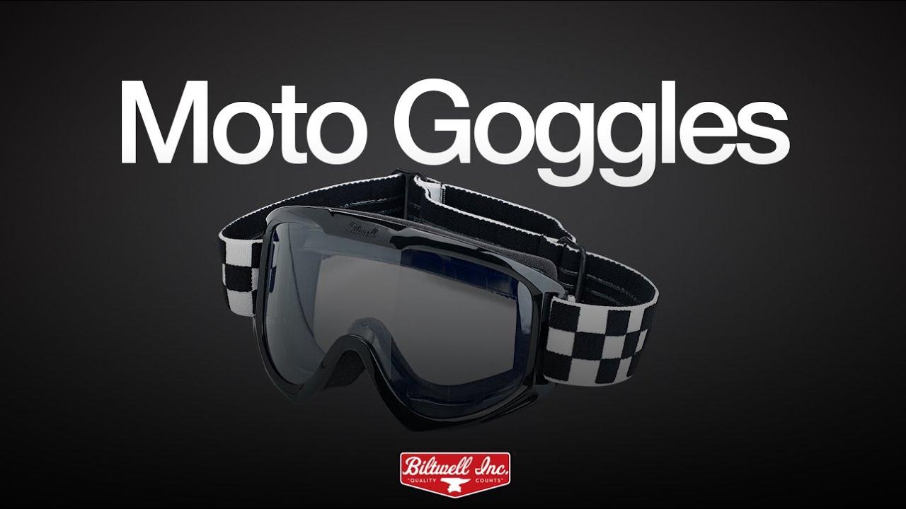 f487b2a66ba1 Biltwell Moto Goggles - YouTube
