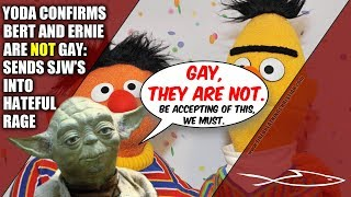 Yoda Declares Bert & Ernie NOT Gay; Sends SJW's Into Hateful Rage