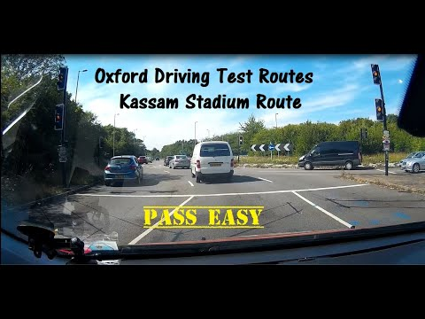 Oxford Driving Test Route 2020 - Kassam Stadium Route