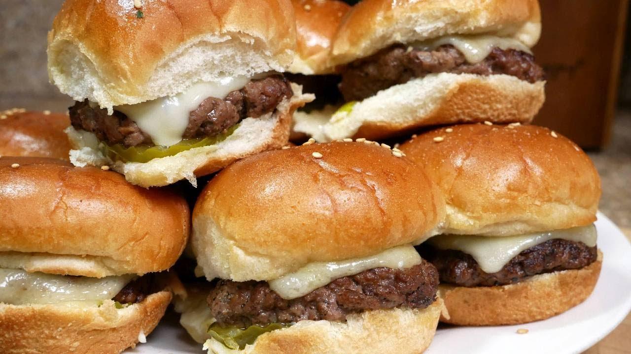 Swiss Cheeseburger Sliders Quick And Easy Recipe Super Bowl Recipe Youtube