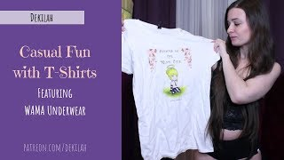 Cute T-Shirts Try On Featuring WAMA Underwear