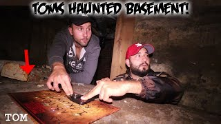 THE HAUNTED 0UIJA BOARD CHALLENGE IN TOMS HAUNTED BASEMENT