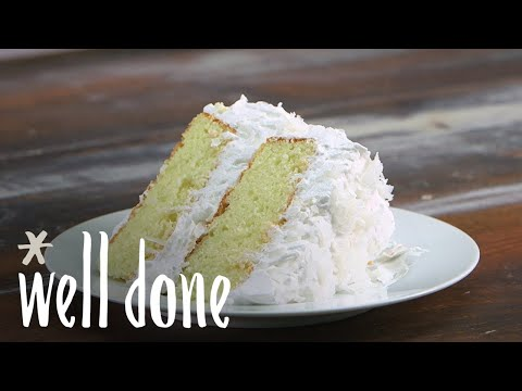 How To Make Coconut Cake   Recipe   Well Done