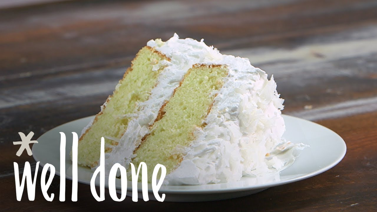 how to make coconut cake recipe well done youtube