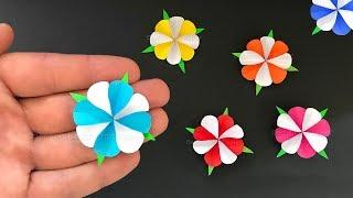 Basteln mit Papier: Blumen als Deko selber machen 🌸 DIY Bastelideen Geschenke