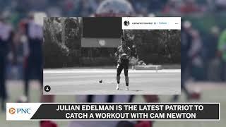 Cam Newton Posts Workout Video With Julian Edelman
