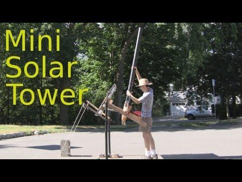 Mini Solar Tower with Fresnel Lens Ver. 7 Screen Solar Air Heater