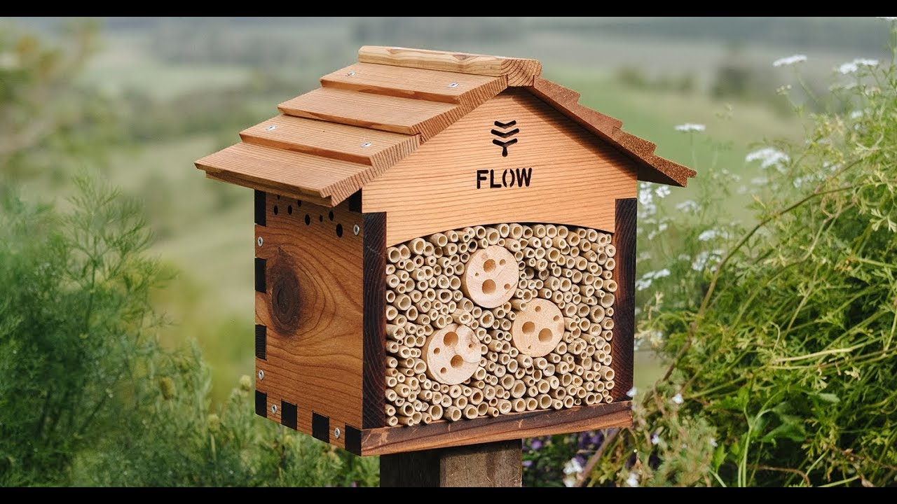 flow pollinator house is a cosy home for solitary pollinators youtube. Black Bedroom Furniture Sets. Home Design Ideas