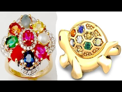 Latest Fashion Navaratna Gold Ring Collection 2016 YT Fashion Week