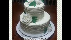 How to make a simple 2 tier wedding cake