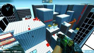 CS:GO - Zombie Escape Mod - ze_bathroom_v2_4 - [Level 1 & 2] - GFL