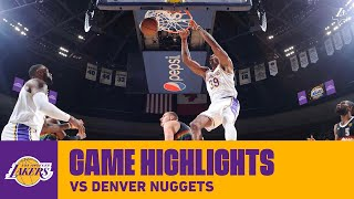 HIGHLIGHTS | Los Angeles Lakers at Denver Nuggets
