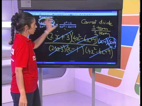 Algebraic Expressions: Fractions