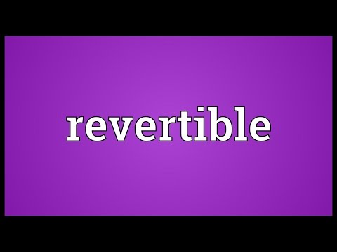 Header of revertible