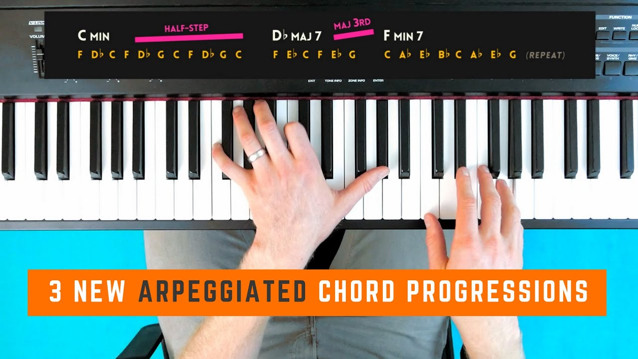 3 arpeggiated chord progressions lesson youtube. Black Bedroom Furniture Sets. Home Design Ideas