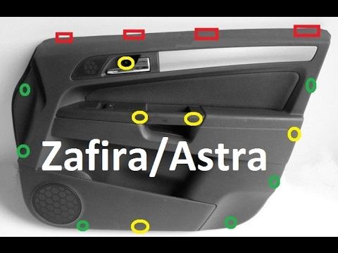 Jak Zdemontować ściągnąć Boczektapicerkę Z Drzwi Opel Zafira B Astra H