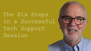 The Six Steps in a Successful Tech Support Session:  Customer Service Training 101(http://www.doncrawley.com In this customer service training video, IT customer service expert and author Don R. Crawley explains the six steps that are ..., 2013-04-08T18:18:38.000Z)