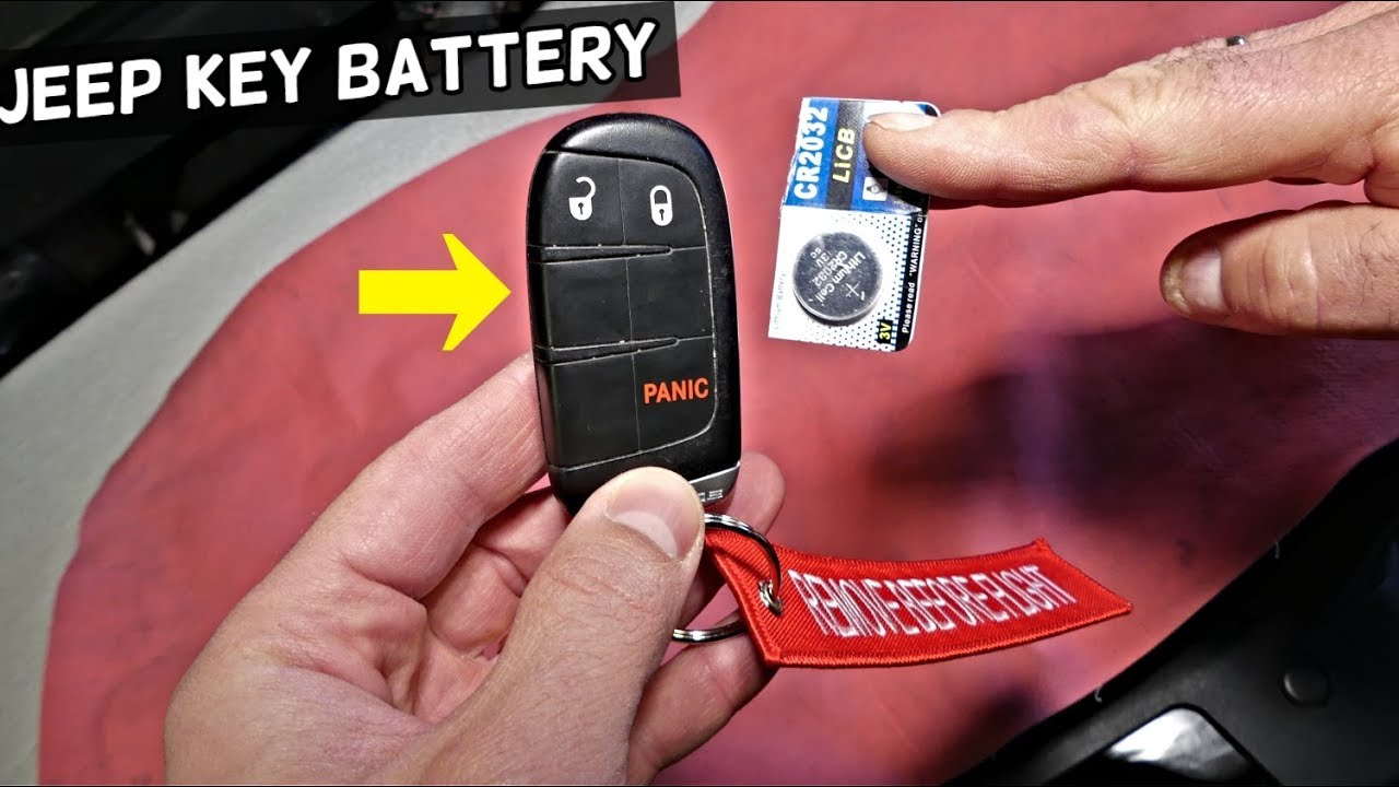 How To Replace Key Fob Battery On Jeep Grand Cherokee Cherokee Renegade Compass Youtube