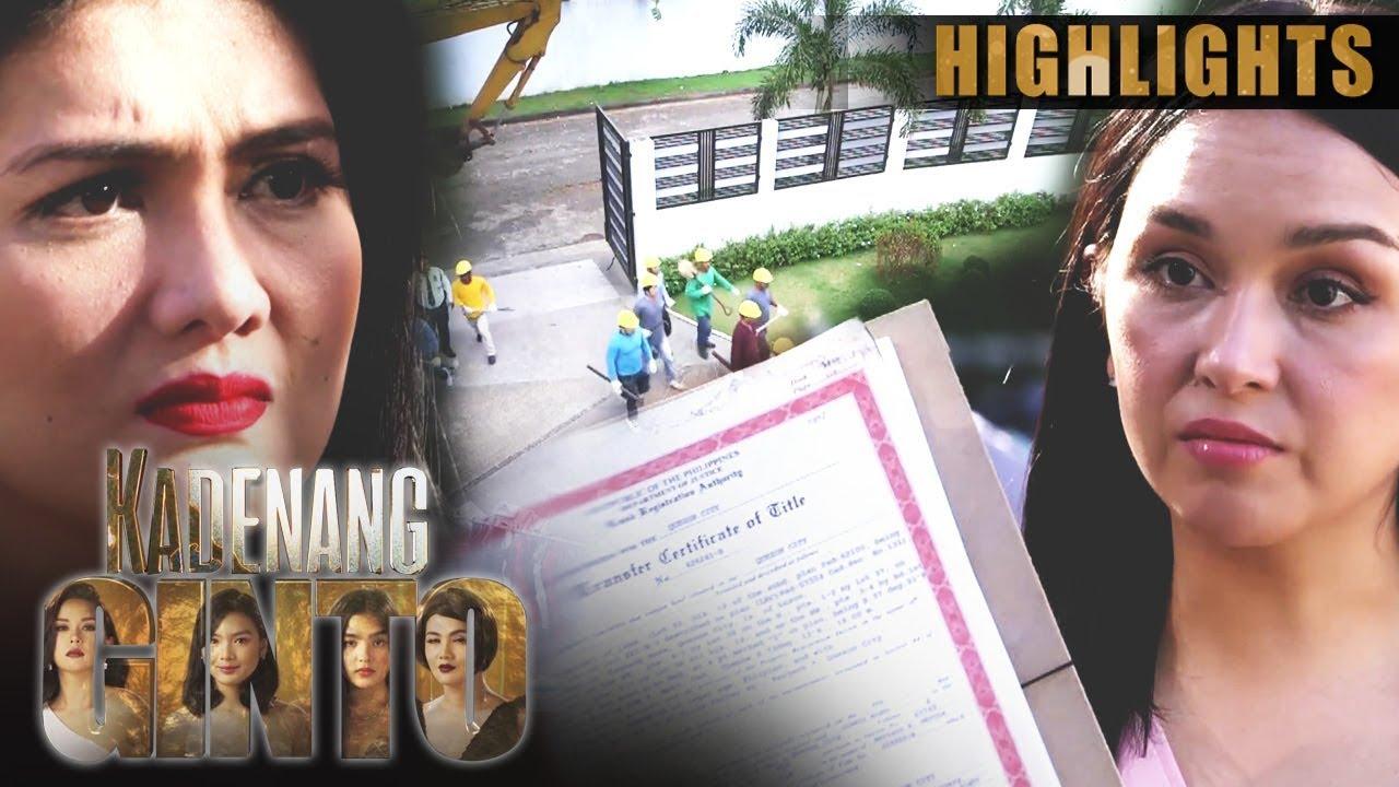 Download Romina, nagdesisyon na ipagiba ang mansyon   Kadenang Ginto (With Eng Subs)