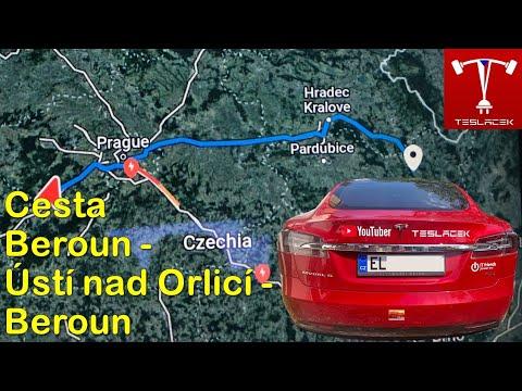 #110 Teslou S75D Beroun - Usti nad Orlici a zpět | Teslacek