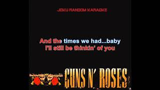 Guns N' Roses - Don't Cry [Karaoke]