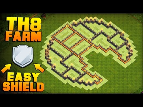 MOST EPIC TH8 FARMING BASE 2017 + PROOF!! | The Moon | CoC Town Hall 8 Defense Base | Clash of Clans