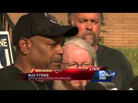 Bus drivers' union holds news conference