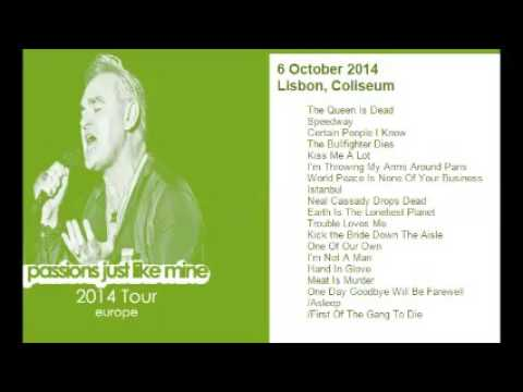 MORRISSEY - October 6, 2014 - Lisbon, Portugal (Full Concert) LIVE