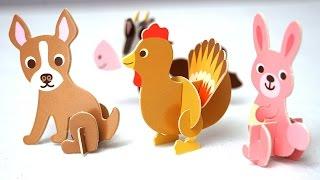 Учим Животных на Ферме Русский и Английский Развивающее видео для детей