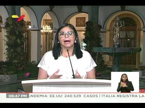 Reporte Coronavirus Venezuela, 02/04/2020: 2 fallecidos y 2 nuevos casos, informa Delcy Rodríguez
