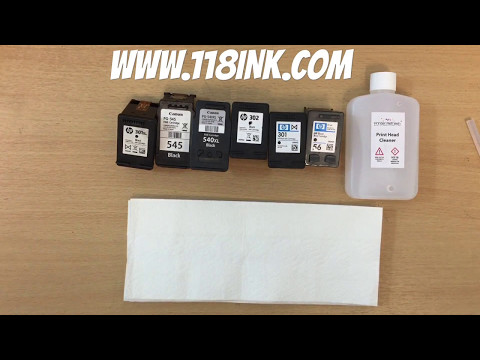 How To Clean And Unblock Clogged HP, Canon And Lexmark Ink Cartridges