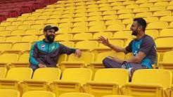 Mohammad Hafeez in conversation with Shoaib Malik