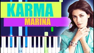 MARINA - Karma (Piano Tutorial) LOVE + FEAR
