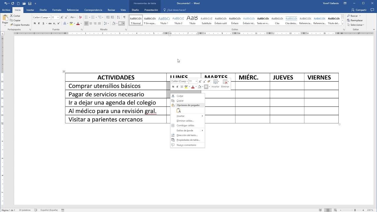 Calendario De Tesis.Como Hacer Un Cronograma De Actividades En Word