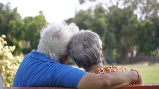 Back view shot of an old couple spending quality time together - couples lifestyle
