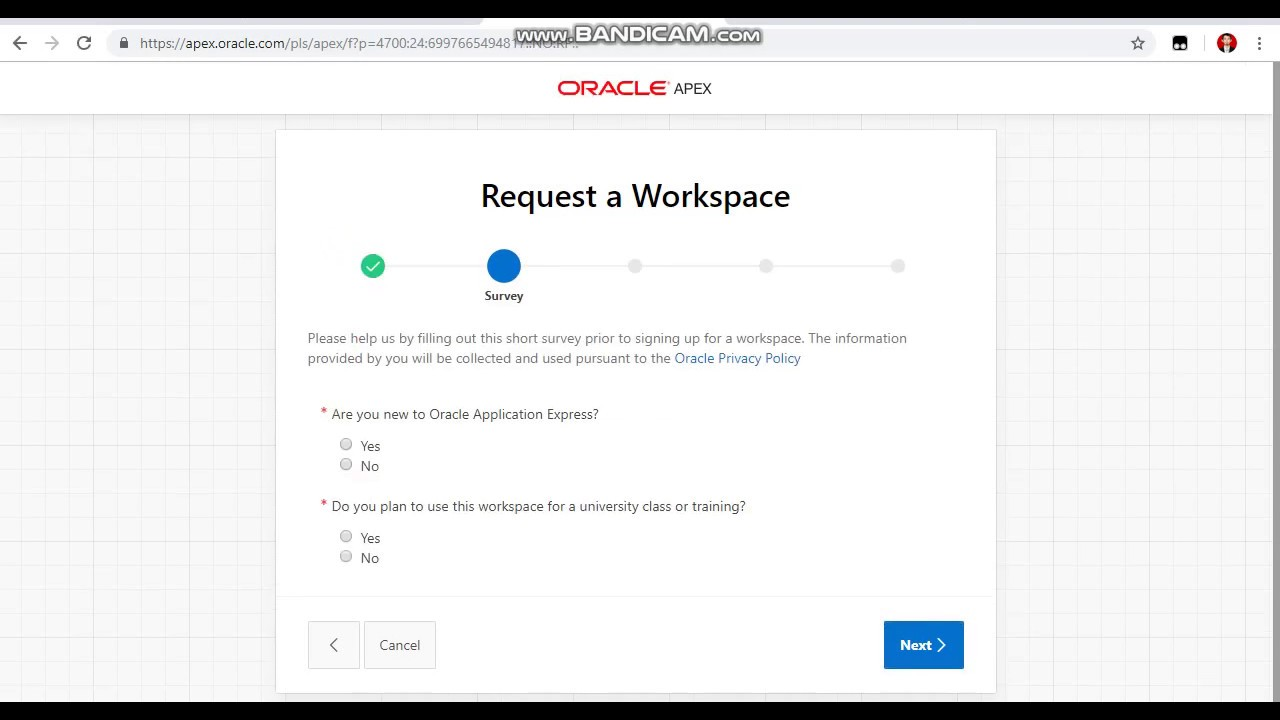 First Step to Learn Oracle APEX (Create a Workspace) | Learning