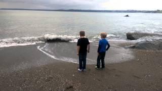 Zack And Ben Getting Wet Feet.....