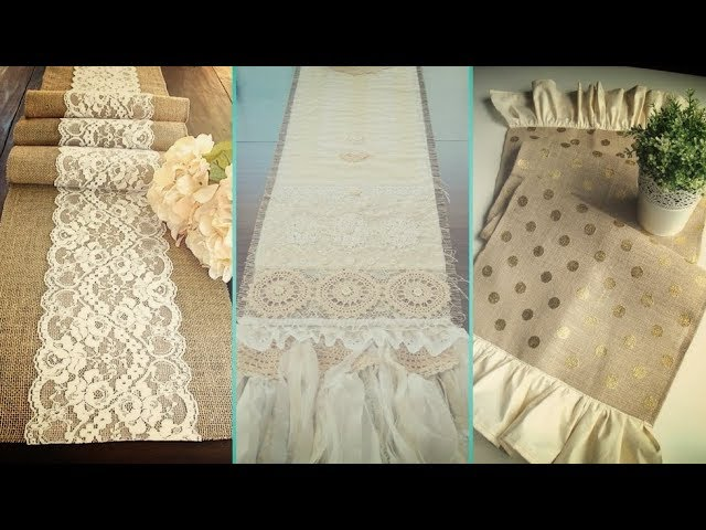 Diy Shabby Chic Style Burlap Table Runners Placemats Decor Ideas Home Flamingo Mango Youtube