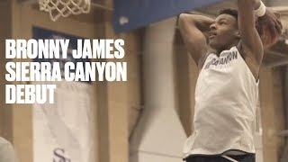 Bronny James and Ziaire Williams Show Out in Sierra Canyon Debut - Full Highlights