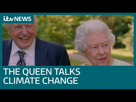 Queen shows funny side in conversation with Sir David Attenb