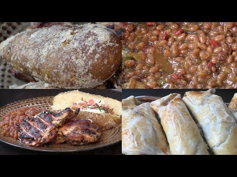 Ranch Grilled Chicken, Sorghum Baked Beans, Salted Baked Potatoes & Rhubarb Turnover (#624)