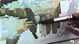 Как нарисовать сад акварелью