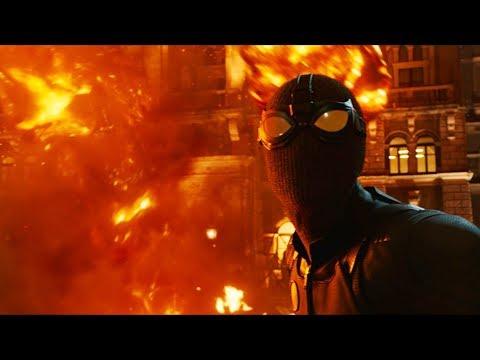 Человек паук и Мистерио против Элементаля | Человек-паук: Вдали от дома (2019)