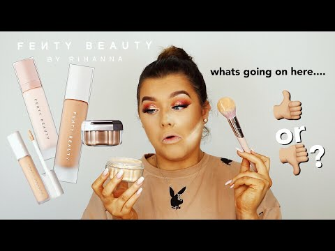 FENTY BEAUTY.. IS IT WORTH THE HYPE? 馃 TESTING ALL THINGS SKIN! | Rachel Leary
