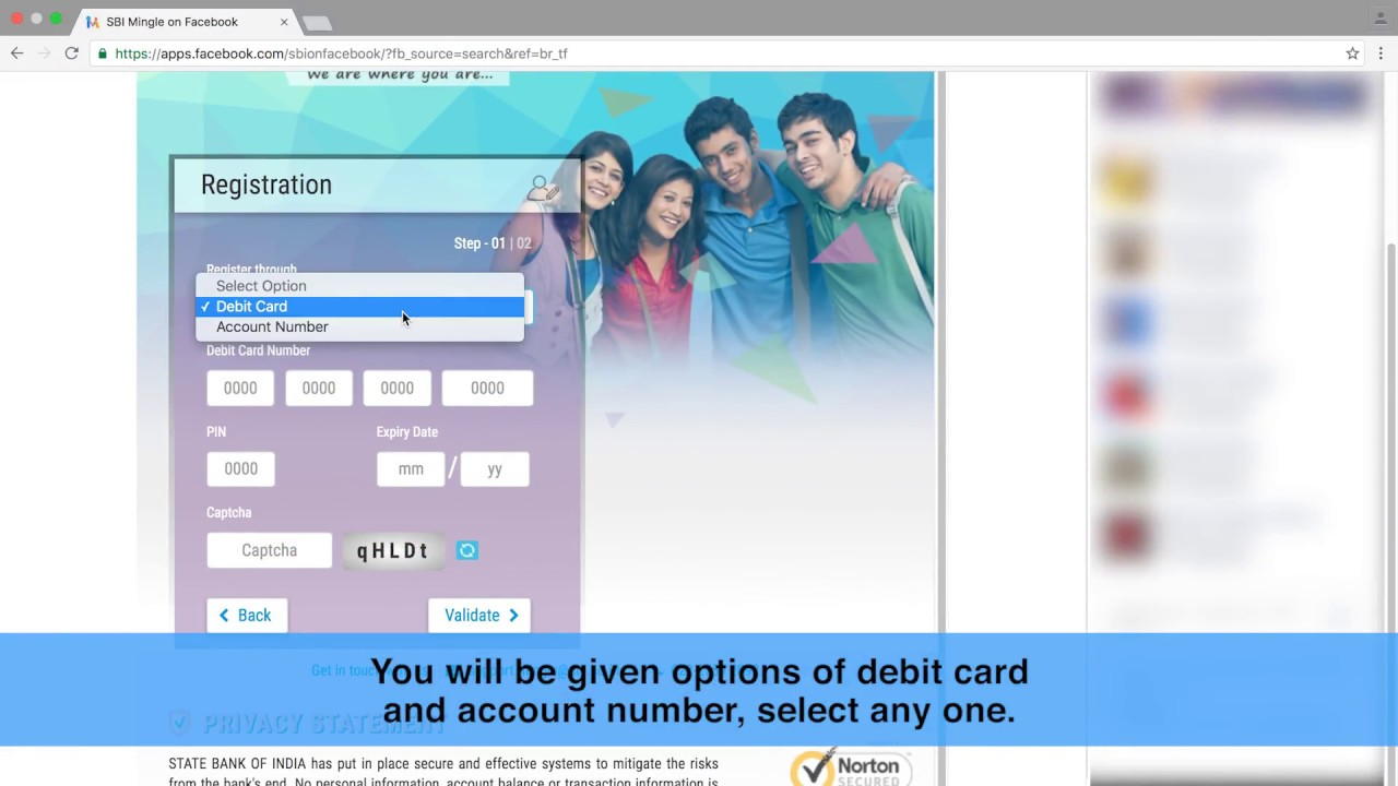 SBI Mingle: User Registration & Password Retrieval - Facebook (English) (Video created in Mar 20