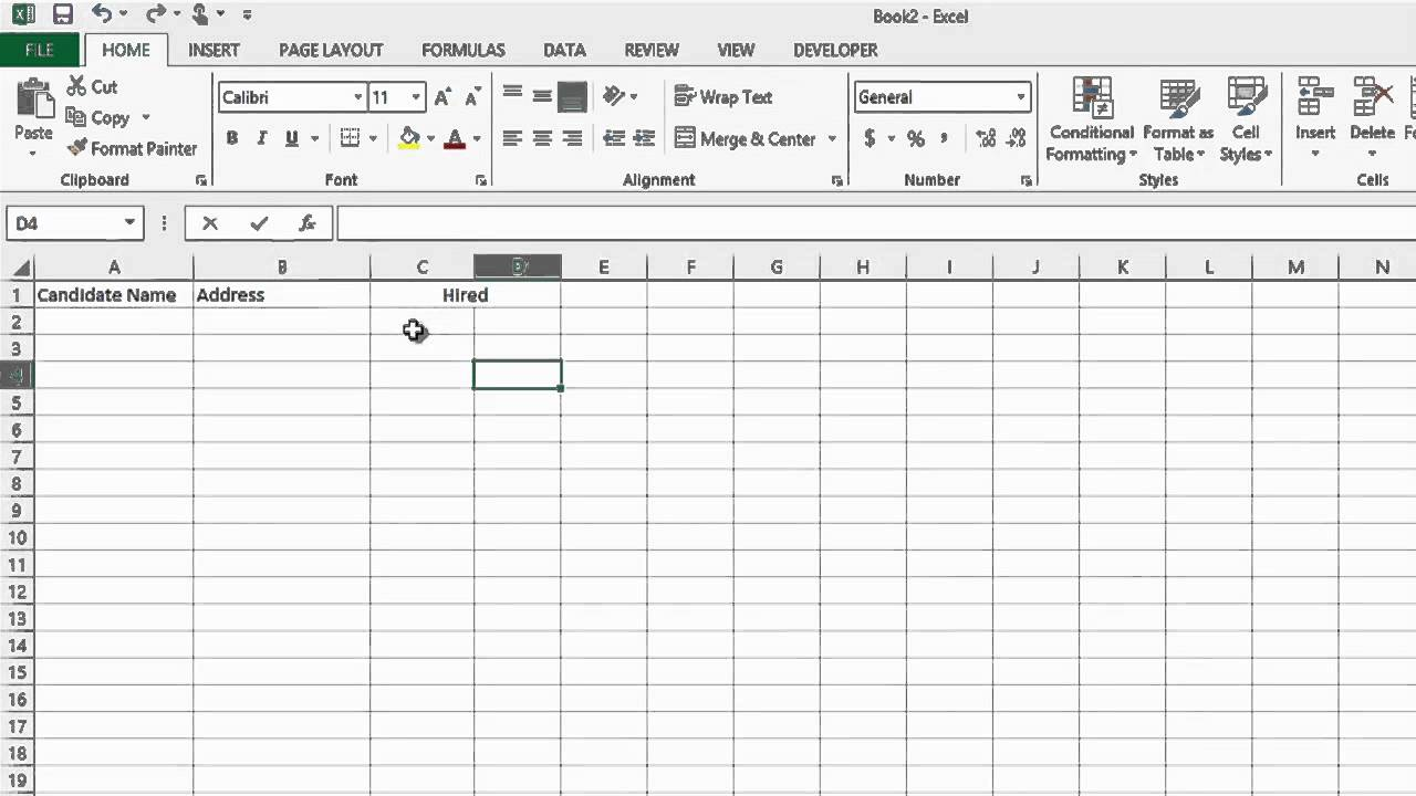 how to track the recruiting process in microsoft excel ms word